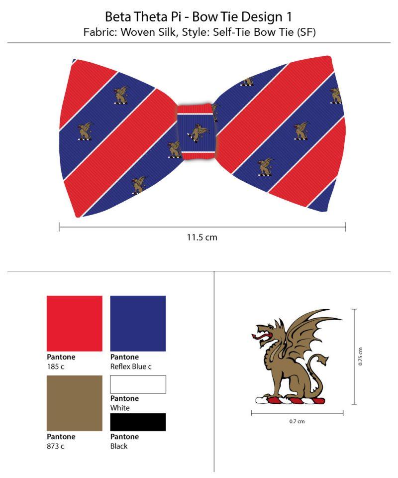 Bow Ties Striped Beta Theta Pi