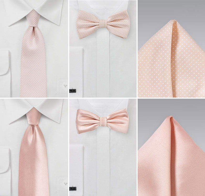 Groomsmen Ties in Blush Pink