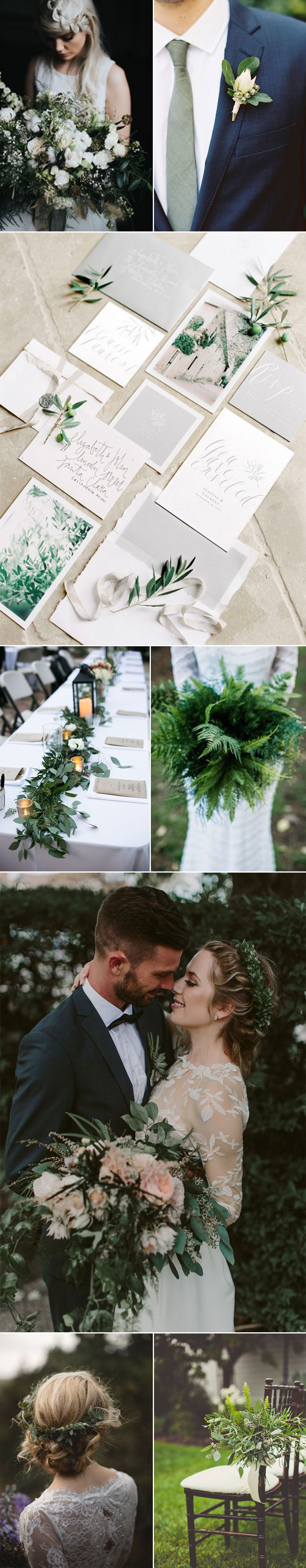 Weddings with Green Foliage