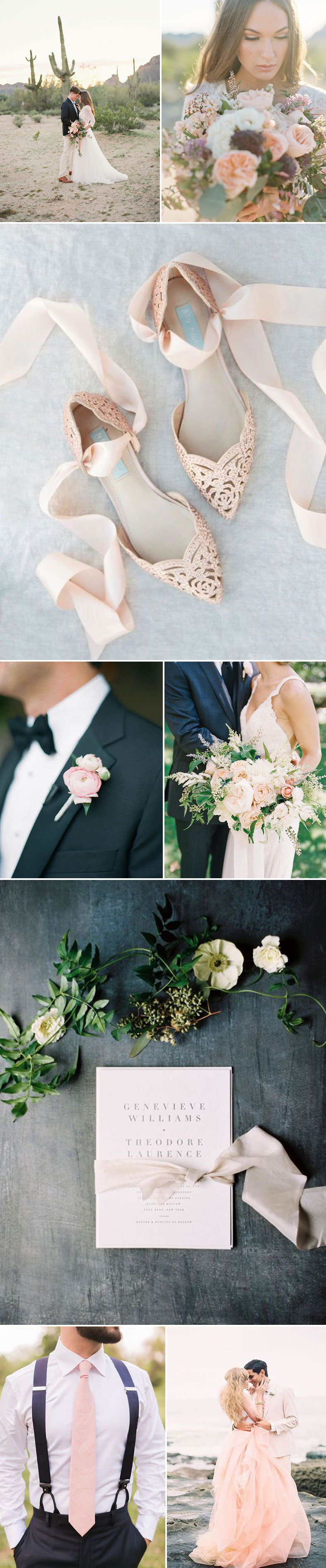 Blush, Ivory Wedding
