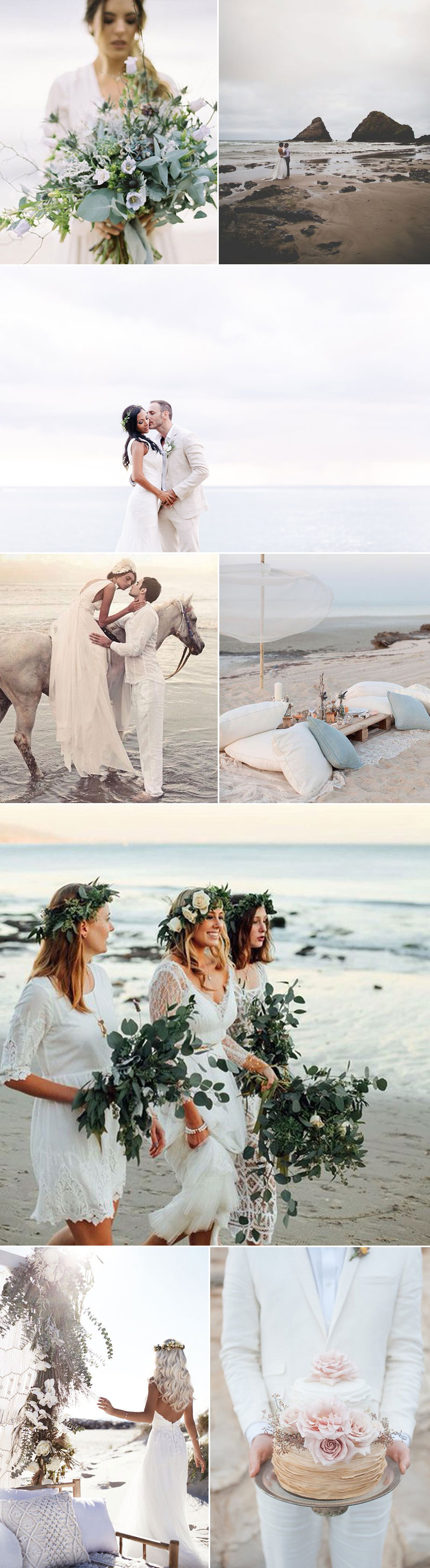 Ivory Beach Wedding