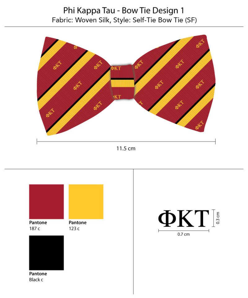 Phi Kappa Tau striped bow ties