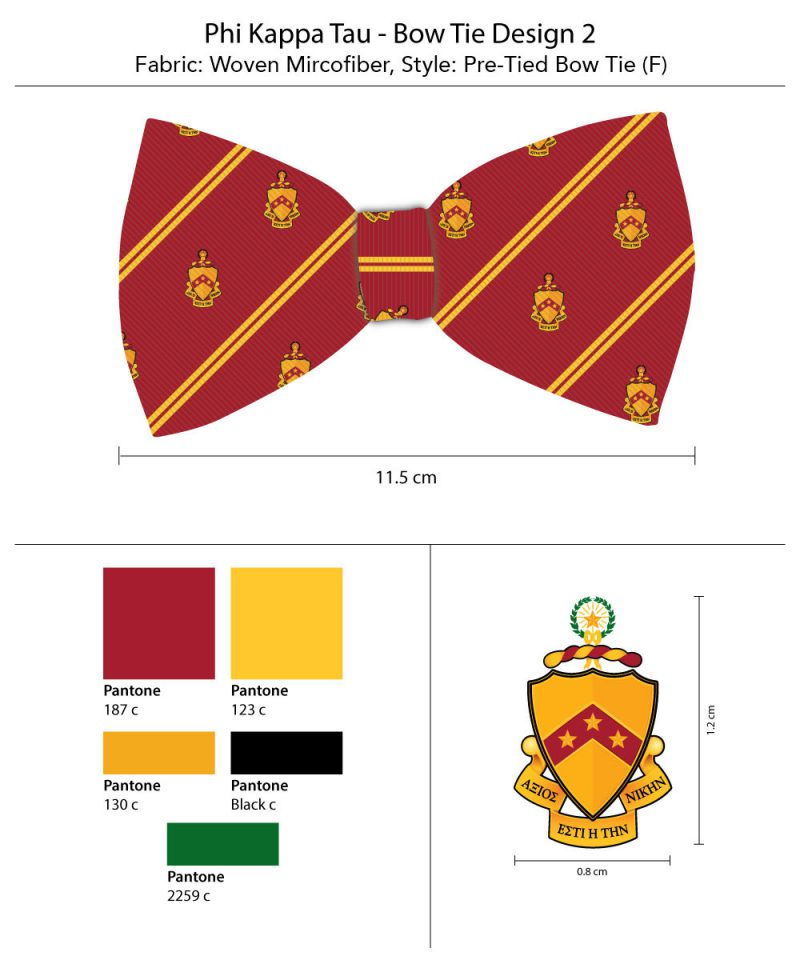 striped bow ties for phi Kappa Tau