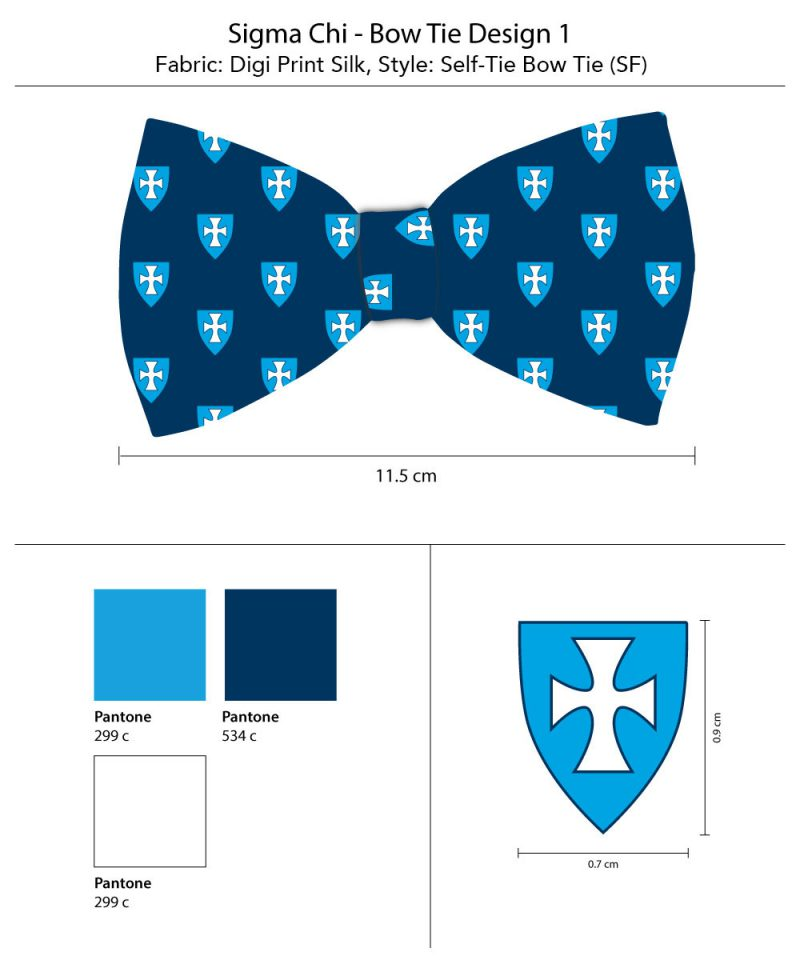 Sigma Chi Self Tied Bow Ties