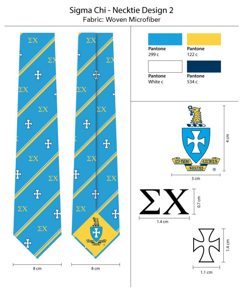 Sigma Chi Summer Striped Ties