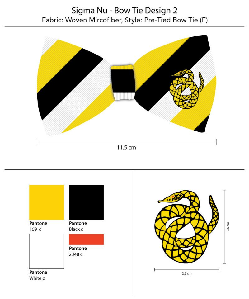 Sigma Nu Stripe Bow Ties