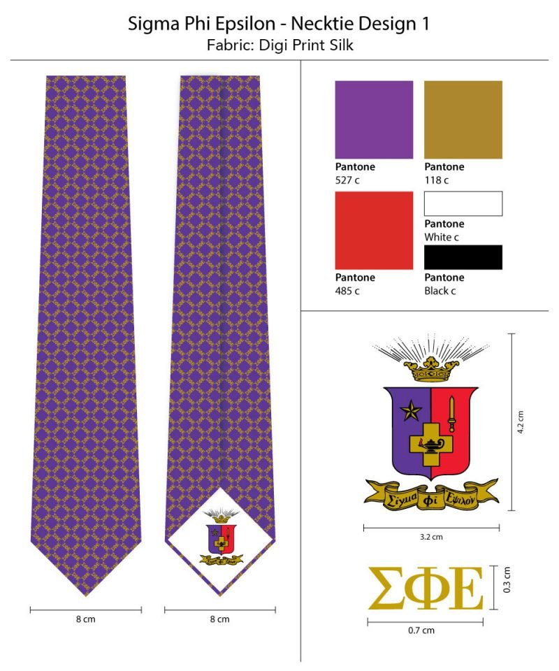 Sigma Phi Epsilon Silk Necktie