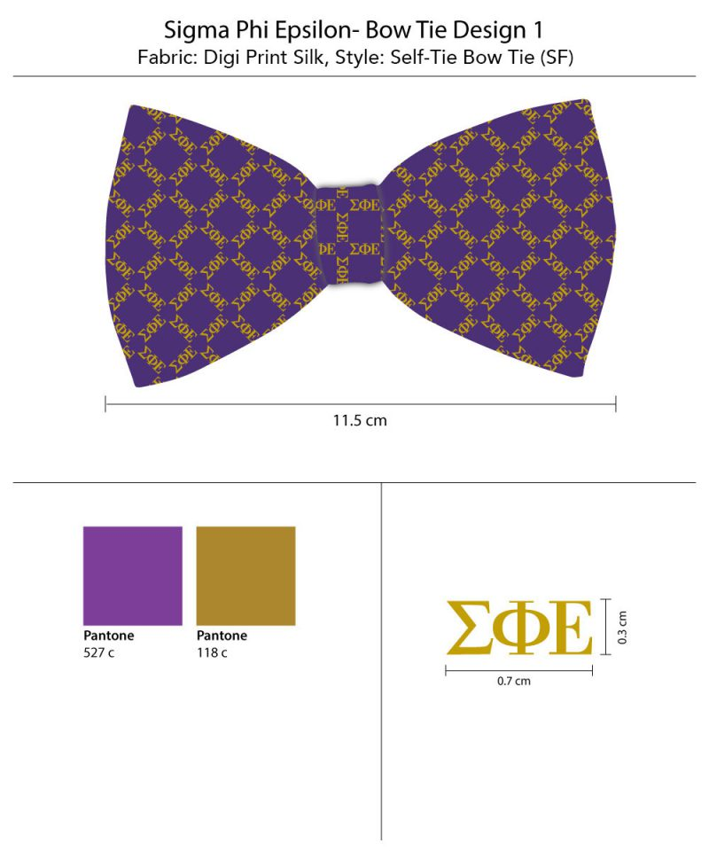 SigmaPhiEpsilon Silk Bow Tie Self Tie