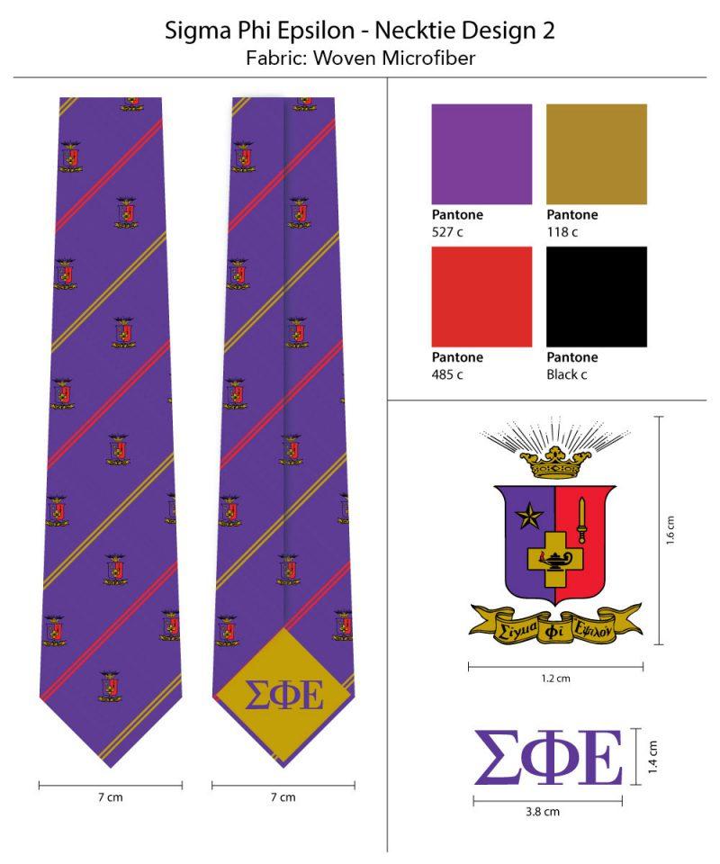 Sigma Phi Epsilon Skinny Tie