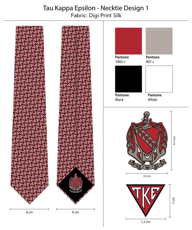 Tau Kappa Epsilon Necktie Tie TKE