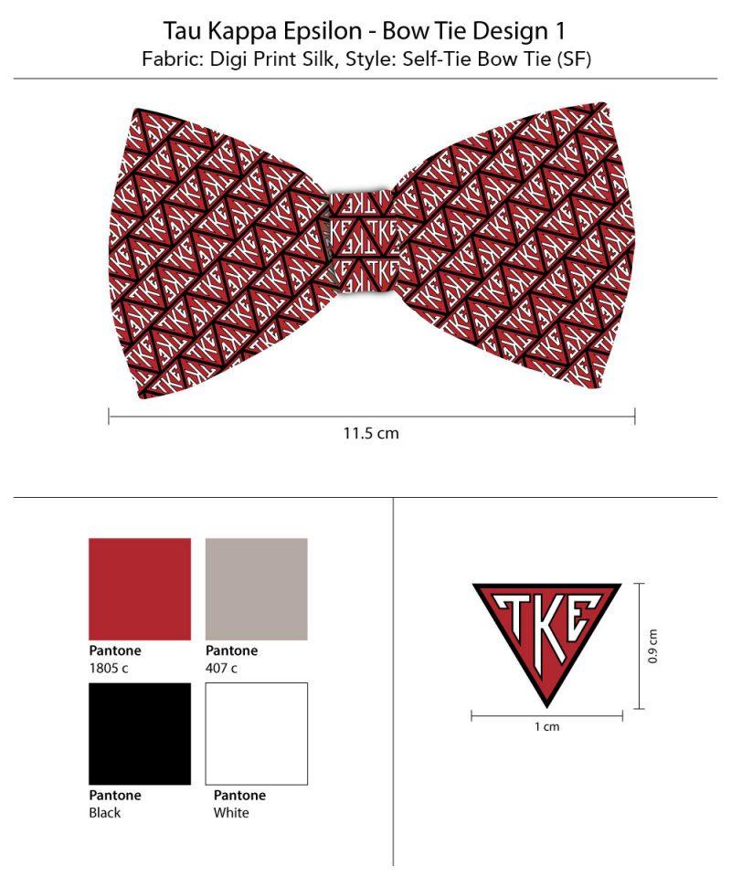 TKE fraternity Bow tie