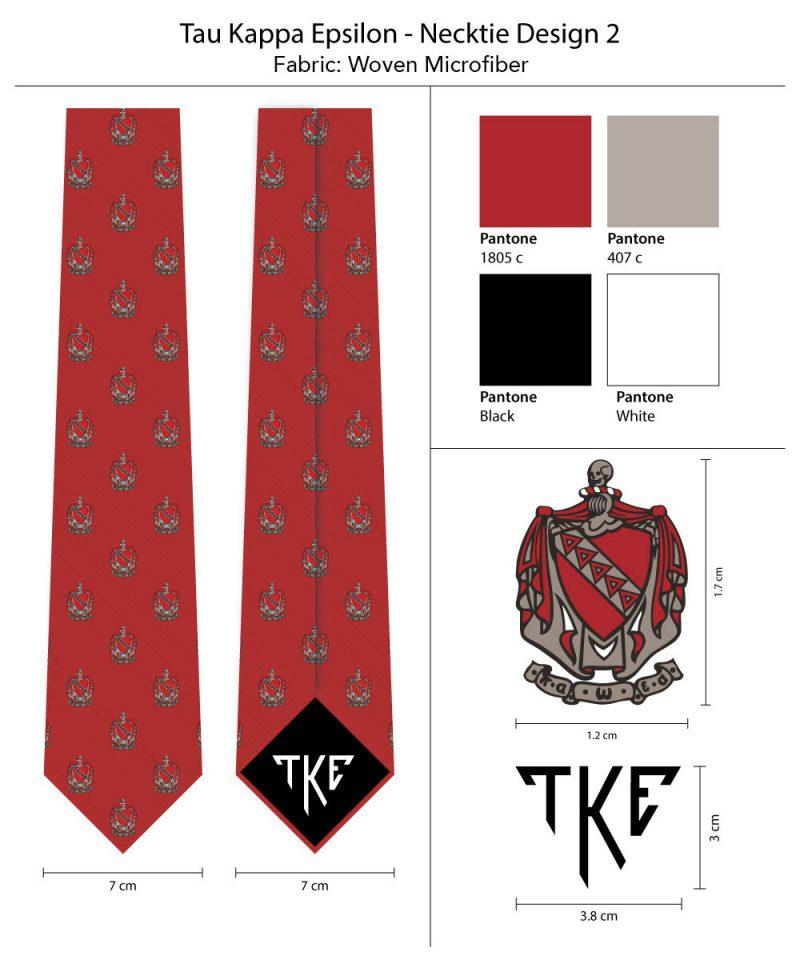 Tau Kappa Epsilon TKE Skinny Tie