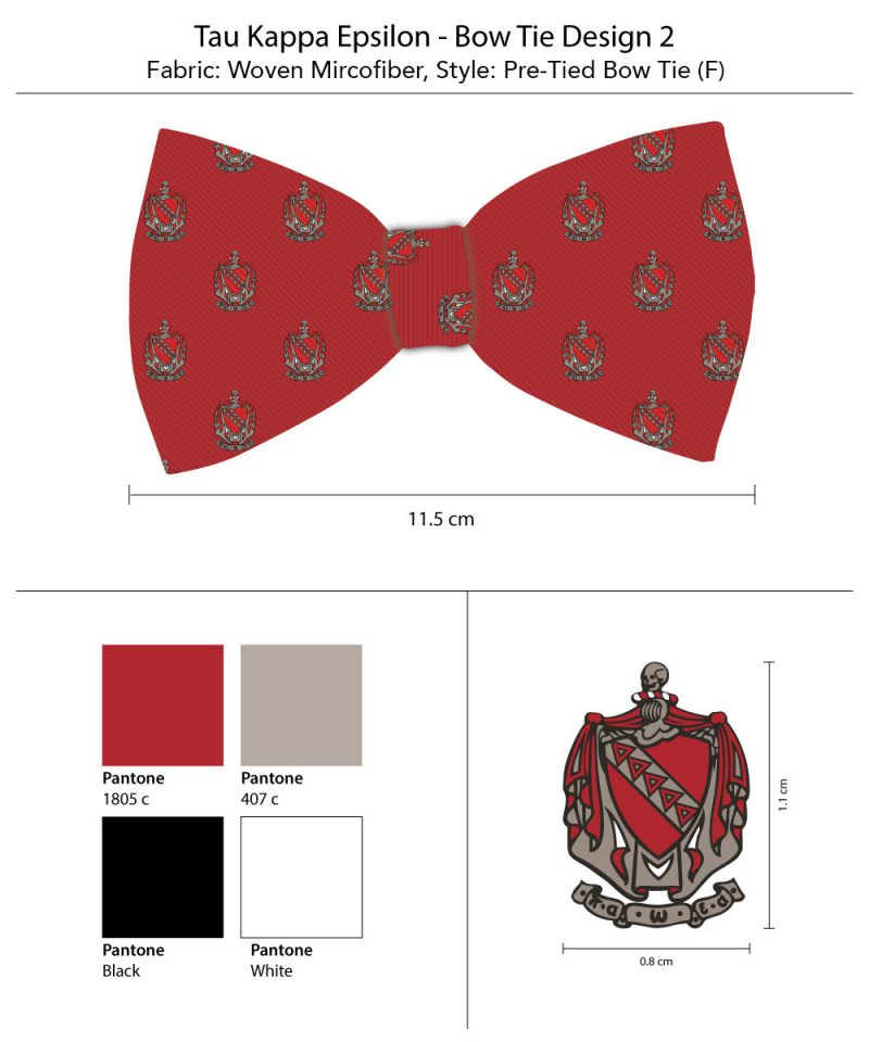 TKE striped bow tie