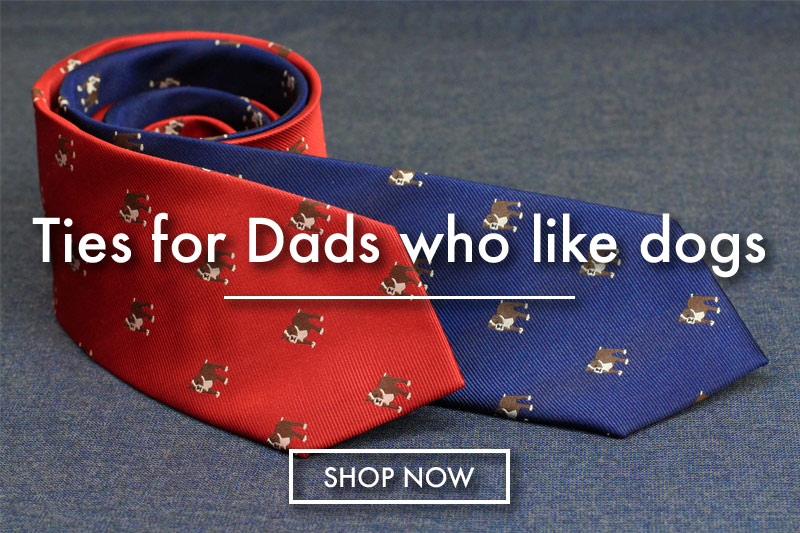 dog lover dad fathers day ties