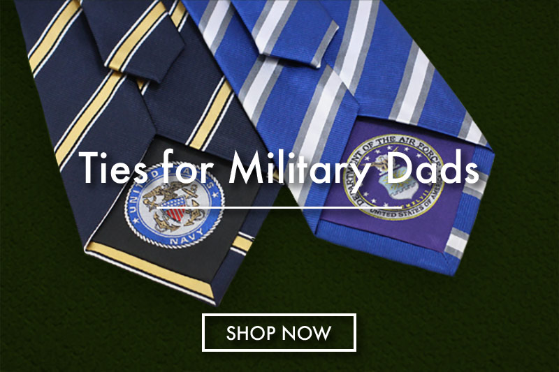 military neckties fathers day ties