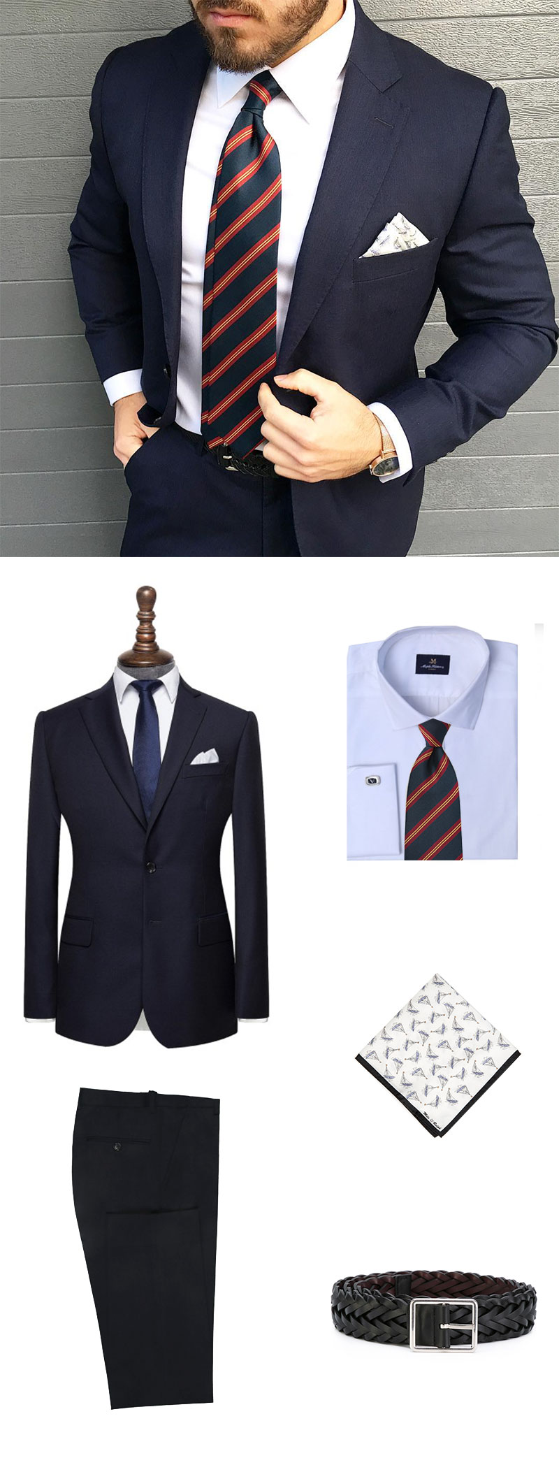 Regimental Tie and Custom Suit