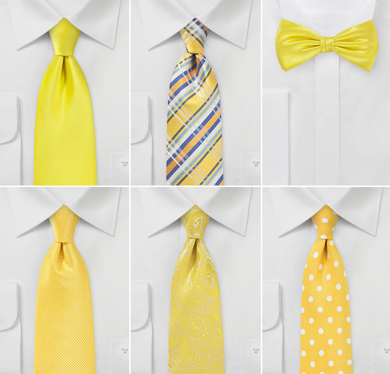 Wedding Ties in Sunbeam Yellow
