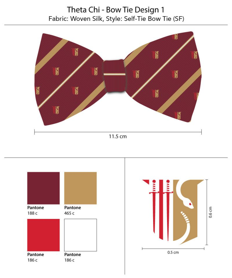 Theta Chi silk bow ties