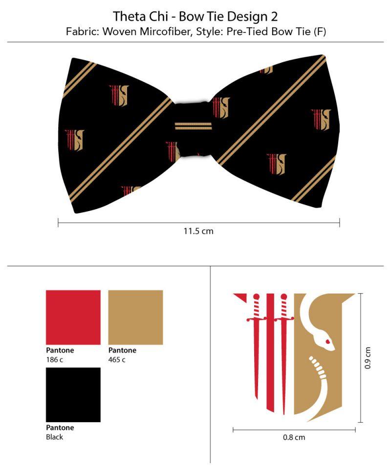 Theta Chi Logo Bow Tie