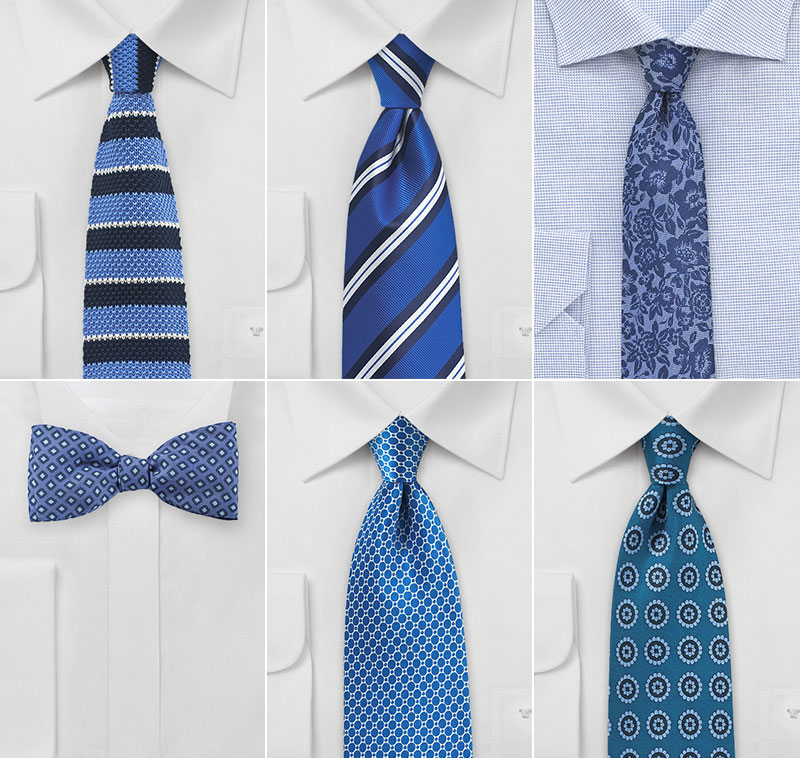 Summer Blue Wedding Neckties