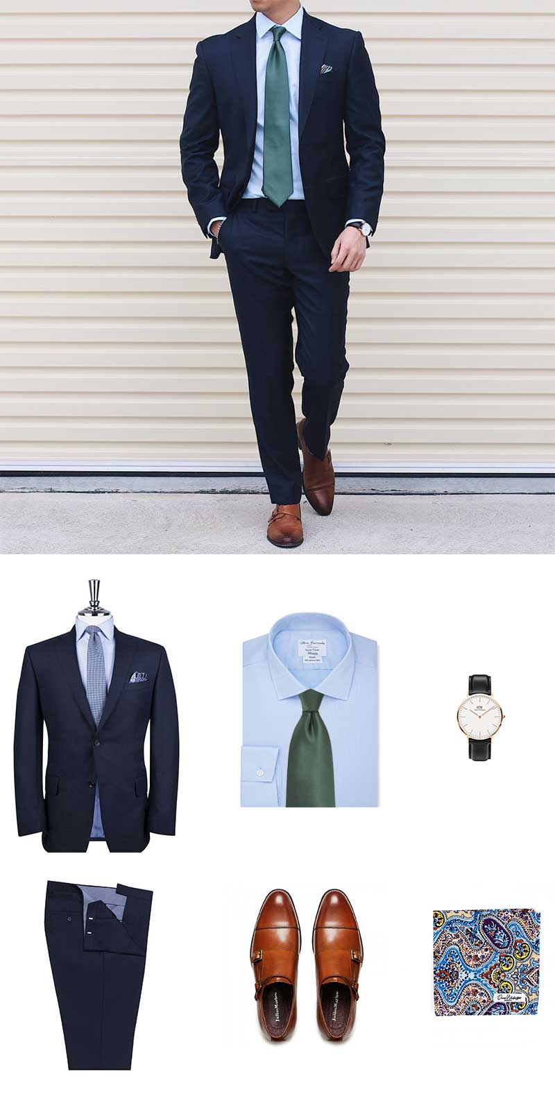 How To Wear A Pine Green Tie