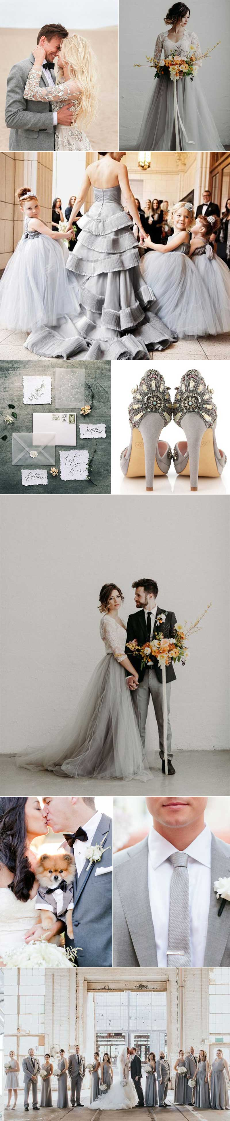 Weddings In Slate Gray