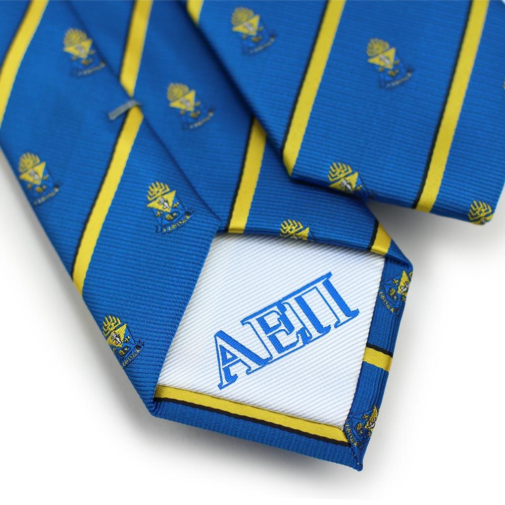Alpha Epsilon Pi Men's Skinny Necktie Back