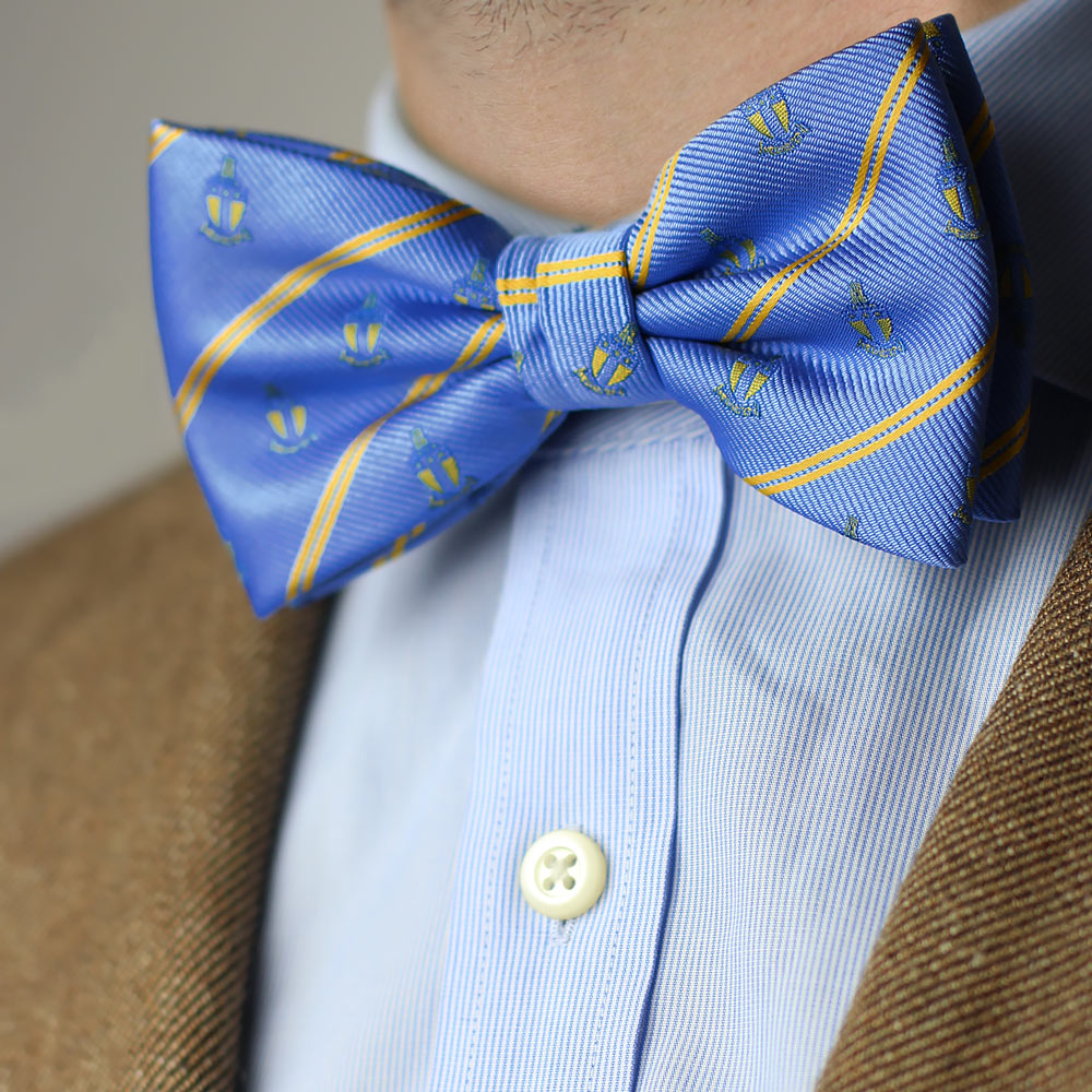 Alpha Tau Omega Men's Bow Tie Men's Bow Tie Pre-Tied Styled