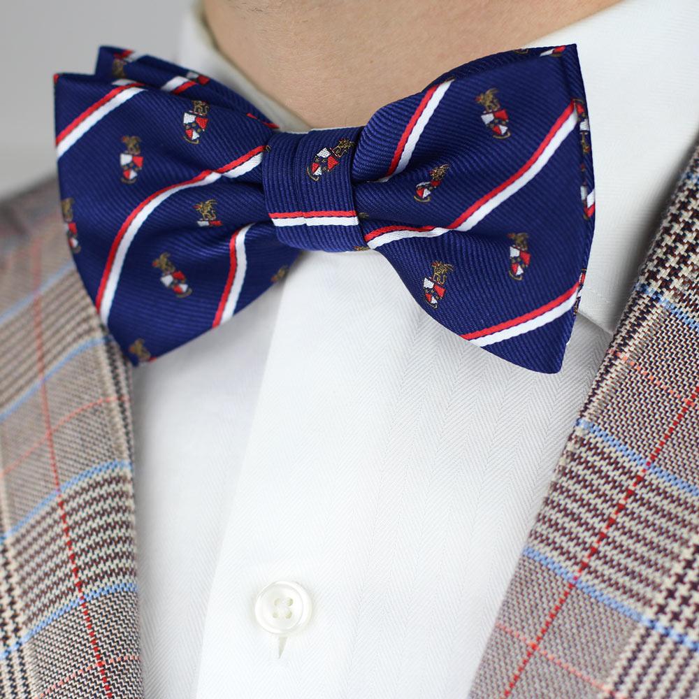 Beta Theta Pi Men's Pre-Tied Bow Tie Styled