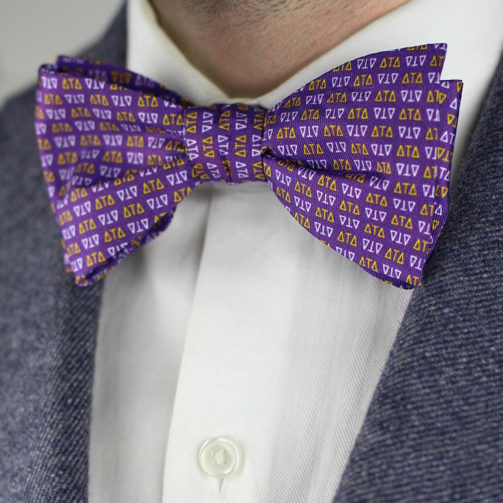 Delta Tau Delta Men's Bow Tie Styled