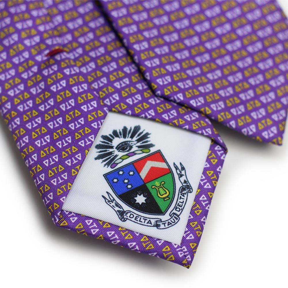 Delta Tau Delta Men's Necktie Men's Necktie Back