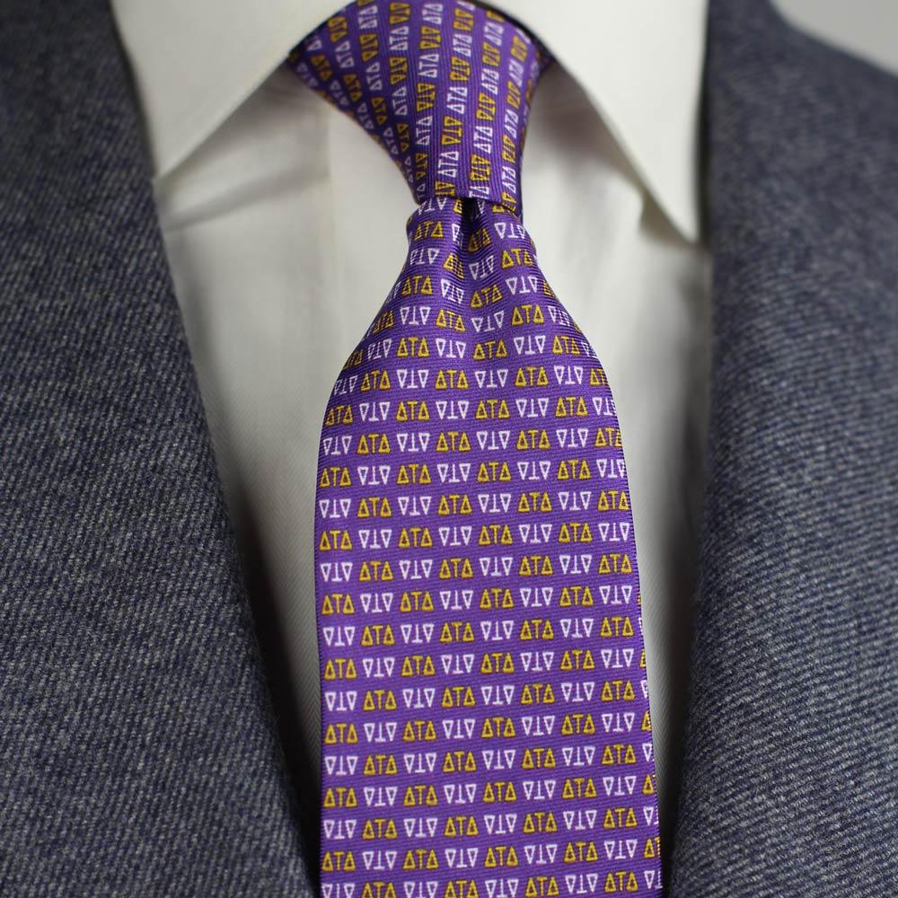 Delta Tau Delta Men's Necktie Men's Necktie Styled