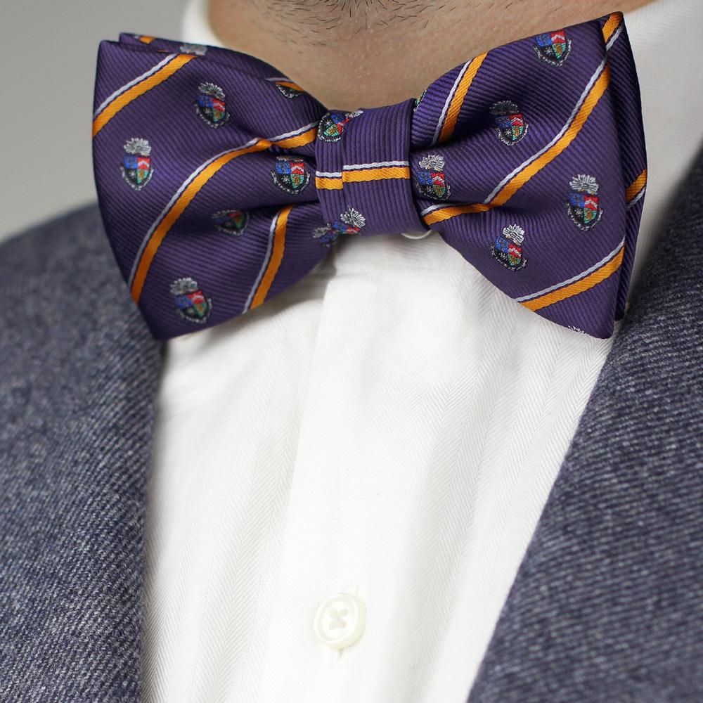 Delta Tau Delta Men's Pre-Tied Bow Tie Styled