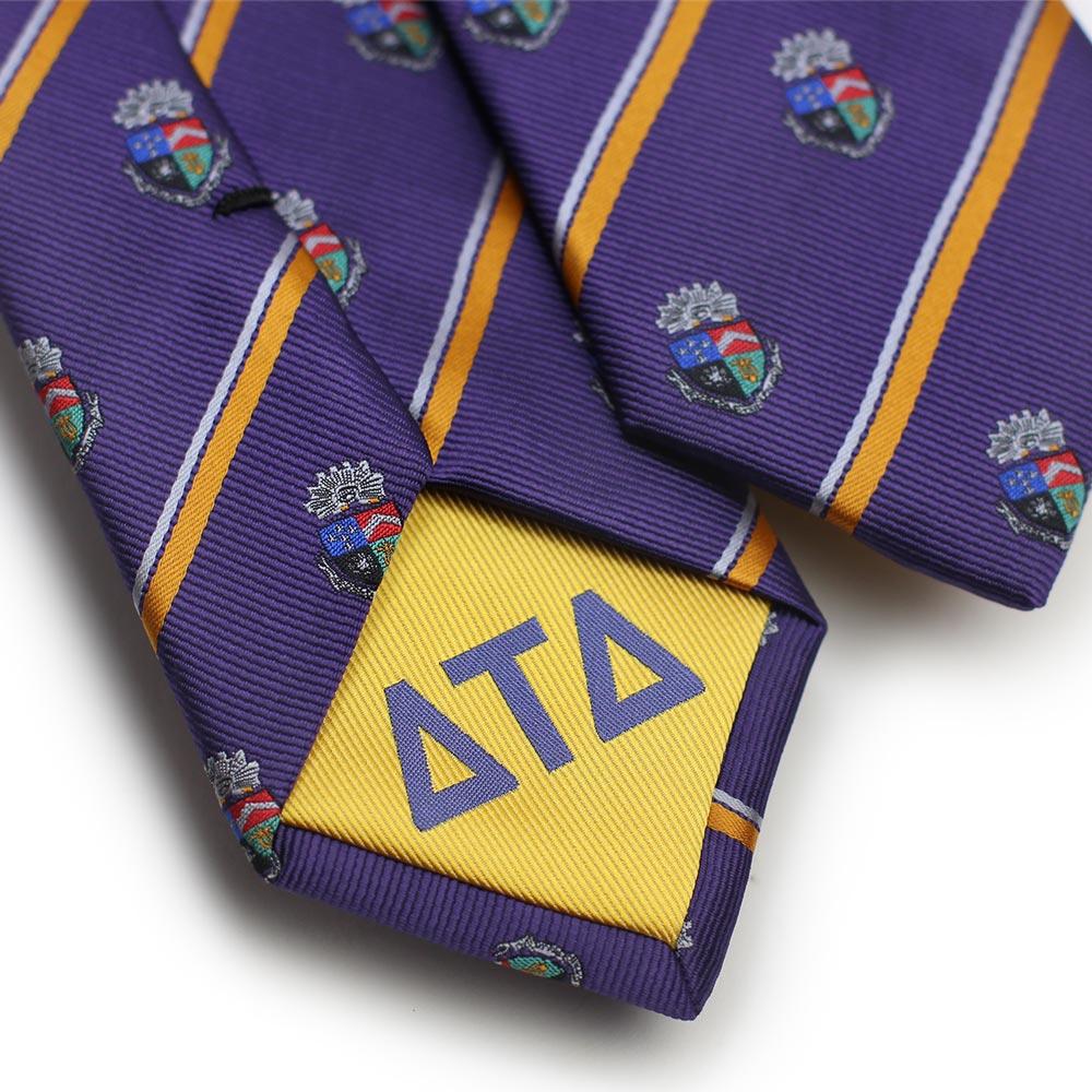 Delta Tau Delta Men's Skinny Necktie Back