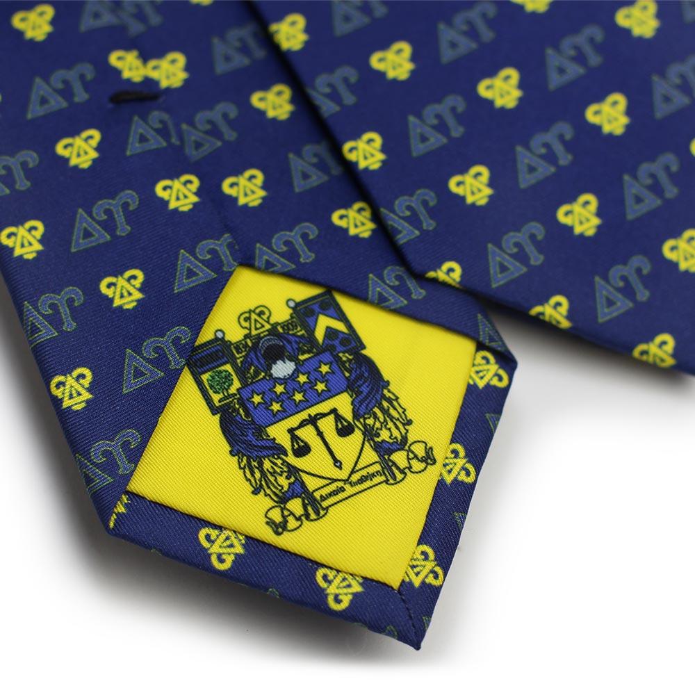 Delta Upsilon Men's Necktie Back