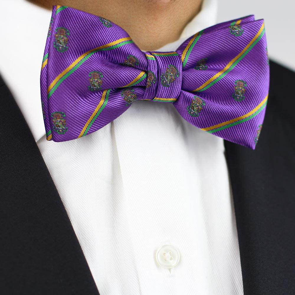 Lambda Chi Alpha Men's Pre-Tied Bow Tie Styled