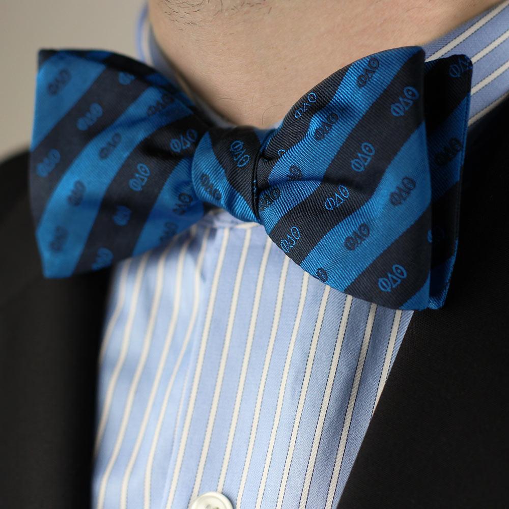 Phi Delta Theta Men's Bow Tie Styled