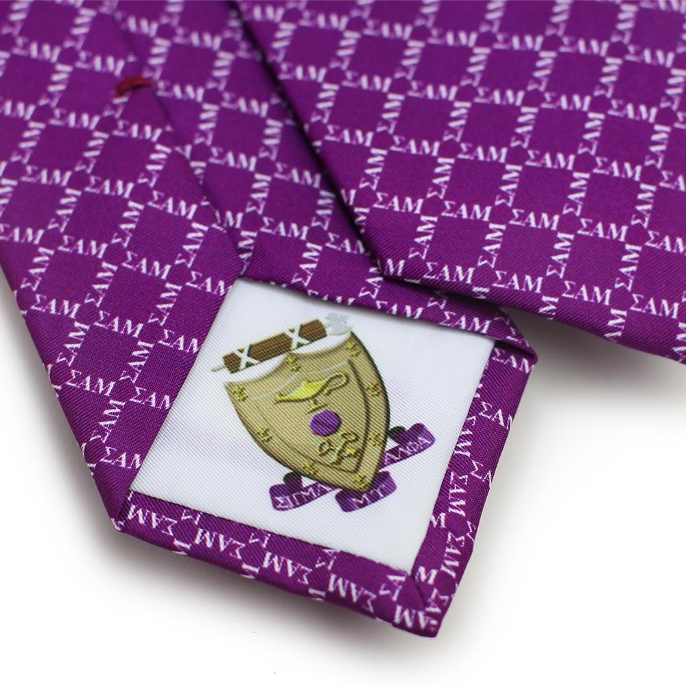 Sigma Alpha Mu Men's Necktie Back