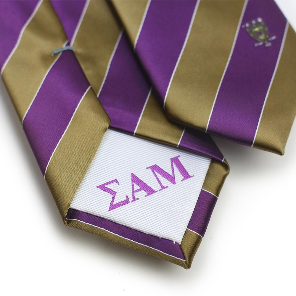 Sigma Alpha Mu Men's Skinny Necktie Back