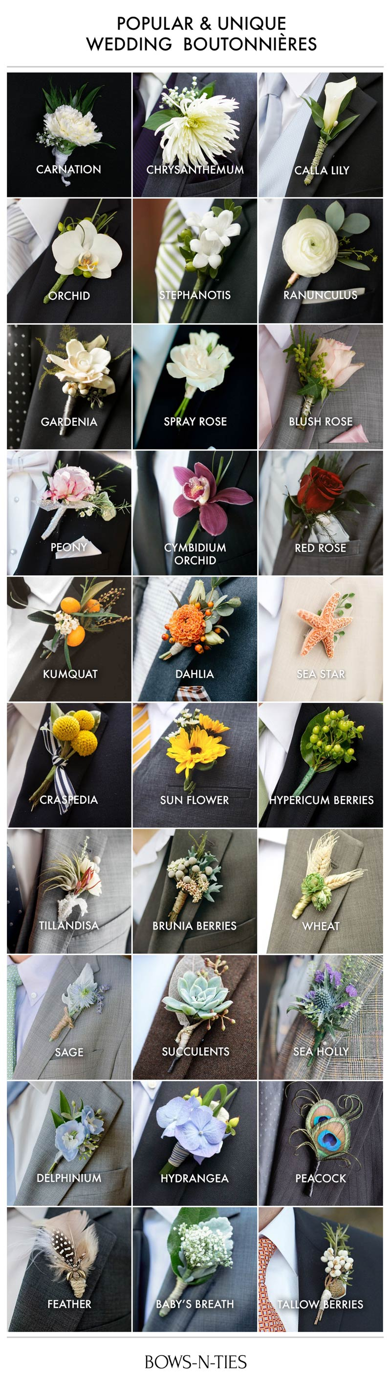 Wedding Boutonniere Guide