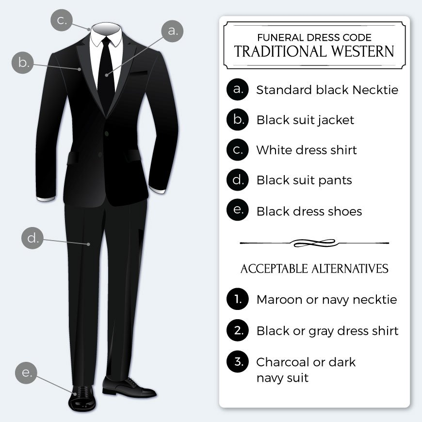 199ad63125bb The Appropriate Dress Code For a Funeral | Bows-N-Ties.com