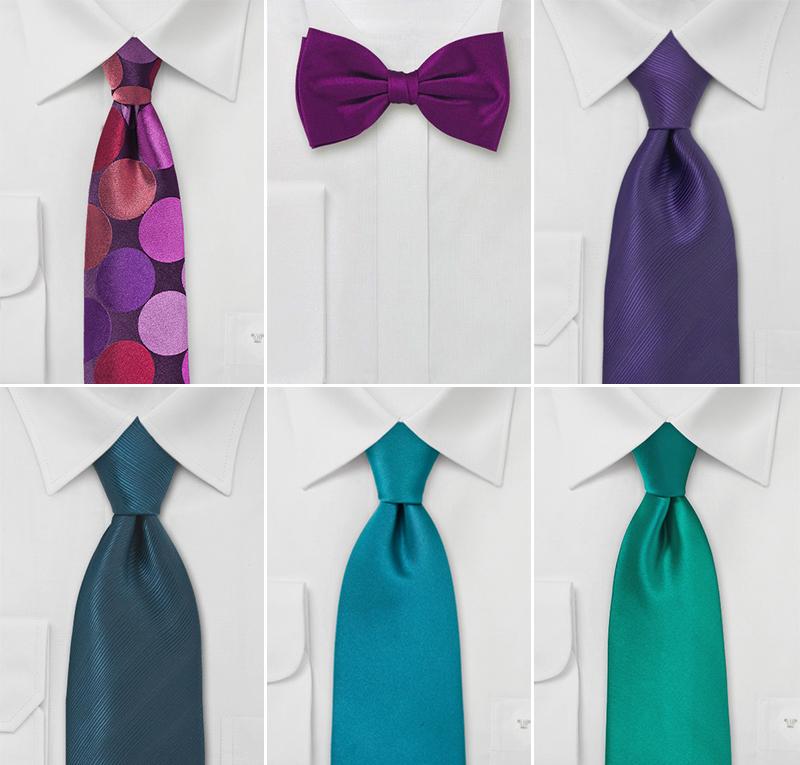 Wedding Ties in Jewel Tones