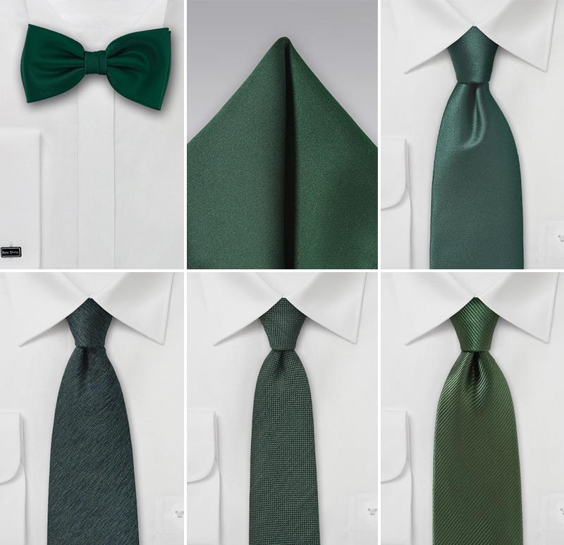 Winter Green Wedding Ties