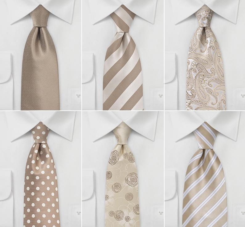 Wedding Ties in Chestnut Browns
