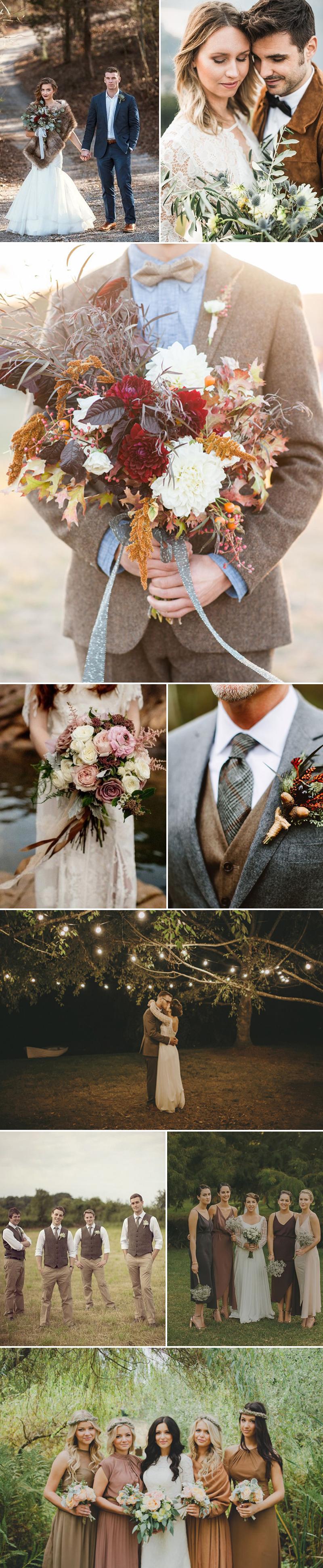 Chestnut Brown Wedding Ideas