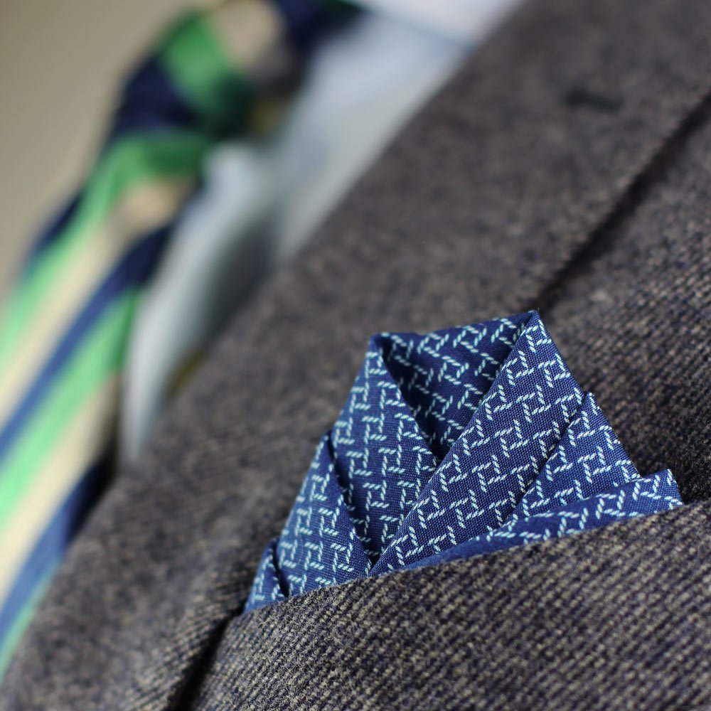 cotton print pocket square