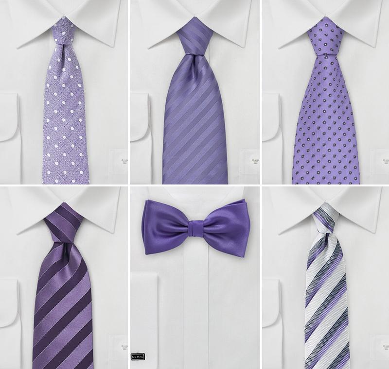 Violet Purple Groomsmen Ties