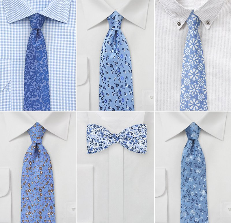 Designer Garden Wedding Neckties