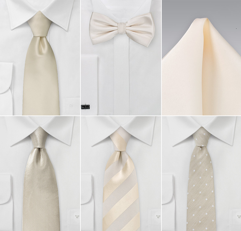 Grooms Accessories In Antique White