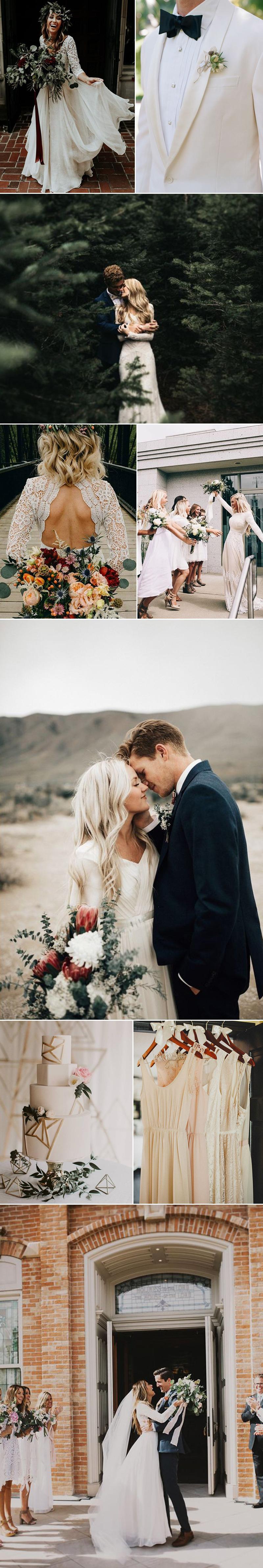 Chic Wedding in Antique Whites